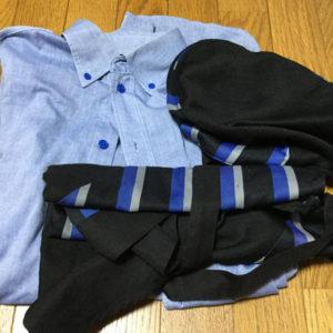フリマで売られているCoCo壱の制服